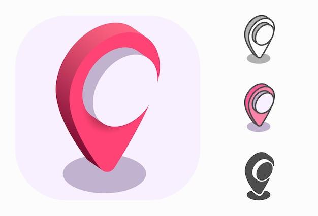 Position gps pin abbildung