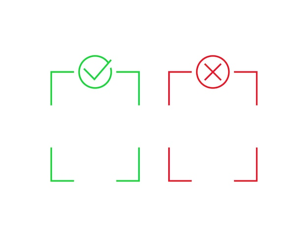 Positiv und negativ, linienvektordesign