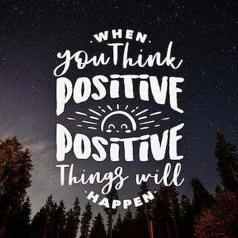 Positive beschriftung mit foto