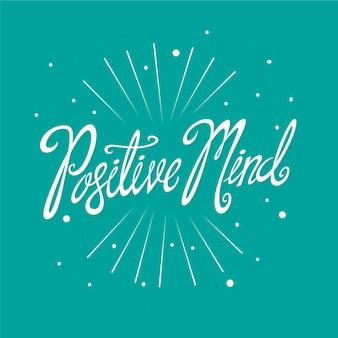 Positive gedankenbeschriftung