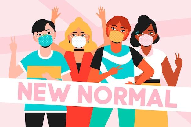 Positive menschen gegenüber der neuen normalität