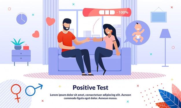 Positive schwangerschaftstest-vorlage