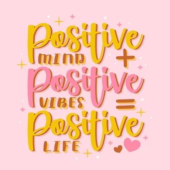 Positiver schriftzug mit nachricht