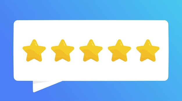Positives feedback fünf-sterne-qualitätsbewertung