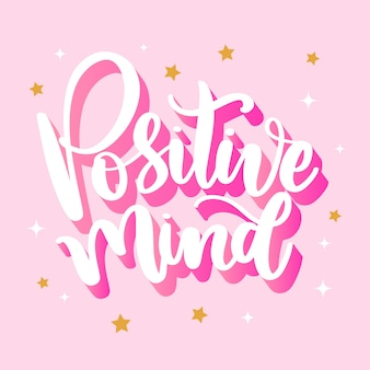 Positives gedankenbeschriftungskonzept