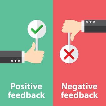 Positives und negatives feedback