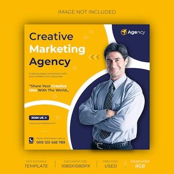 Post-banner-design für kreative marketingagenturen