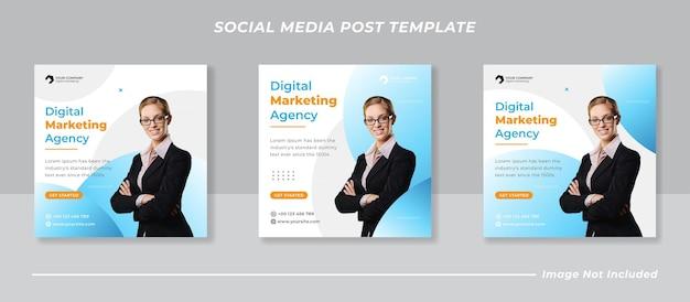 Post-banner-vorlage für digitales marketing für soziale medien