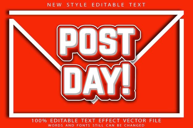 Post day texteffekt prägung im modernen retro-stil