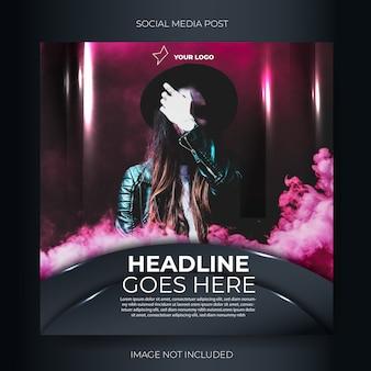 Post-feed für social media-musikveranstaltungen