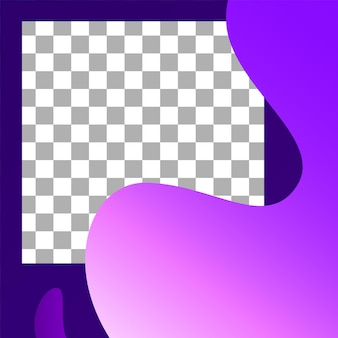 Post für flüssige formen. abstrakte fotorahmen-post-vorlage. soziale werbung in vektormedien, minimale dynamische promo, mobile layoutillustration