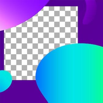 Post für flüssige formen. dynamische mode-sofortseite für werbung, werbespeicher, inhaltsgeschichten, abstrakte fotorahmen-postvorlage. vektor-illustration