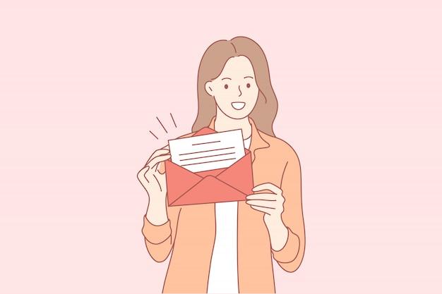Post, geschenk, werbung, promotion-konzept