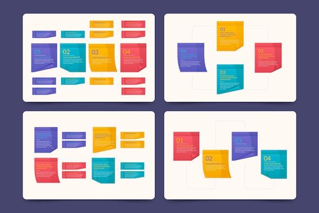Post-its boards bunte infografiken