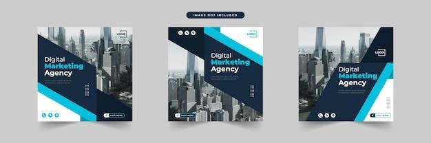 Post-template-sammlung für digitales marketing in sozialen medien