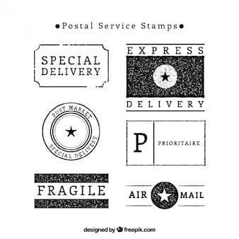 Postal service briefmarken pack