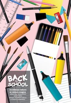 Poster back to school design vorlage illustration
