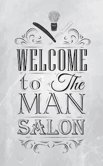Poster barbershop kohle