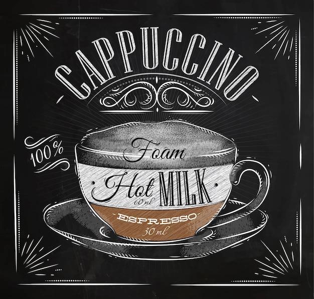 Poster cappuccino kreide