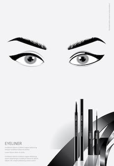 Poster cosmetic eyeliner mit verpackung