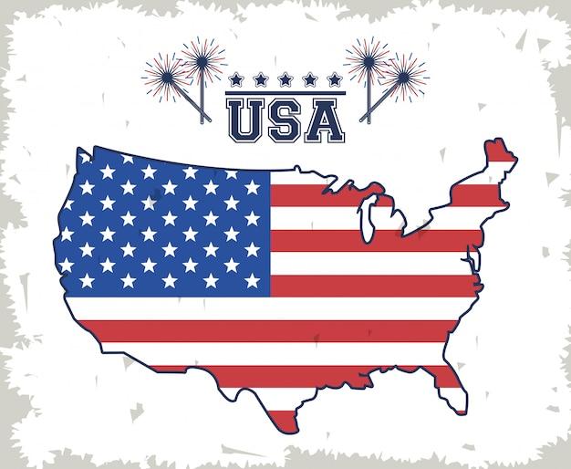 Poster der vereinigten staaten von amerika