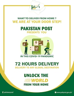 Poster-design der pakistanischen post