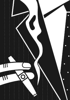 Poster ein mann und eine zigarre