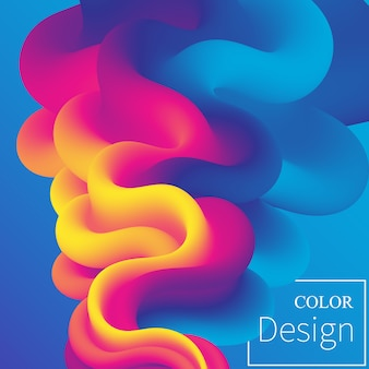 Poster. flüssige farben. flüssige form. tintenspritzer. bunte wolke. strömungswelle. modernes plakat. farbiger hintergrund. .