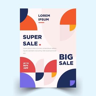 Poster-flyer-vorlage mit geometrischen designs vektorvorlagen