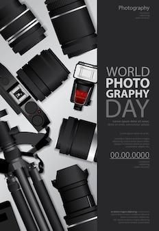 Poster fotografie tag design vorlage illustration