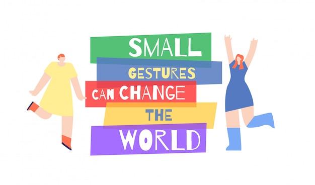 Poster frau motivation aufruf slogan change world