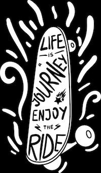 Poster life journey genießen sie ride designed quote