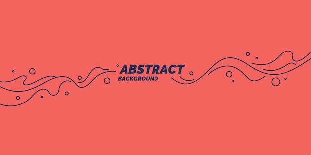 Poster mit dynamischen wellen. vektorillustration minimaler flacher stil