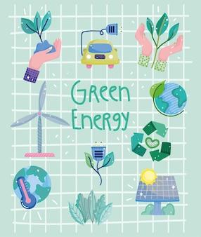 Poster mit grüner energie