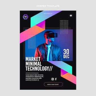 Poster mit minimaler technologie im flachen design