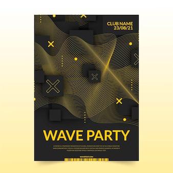 Poster mit modernen geometrischen dunklen trendigen linien