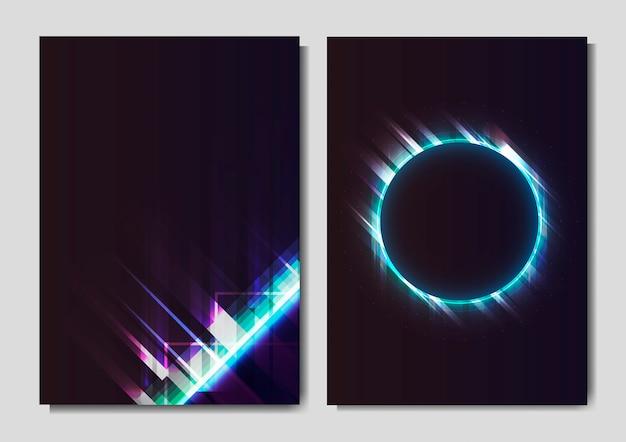 Poster mit neonlichteffekt
