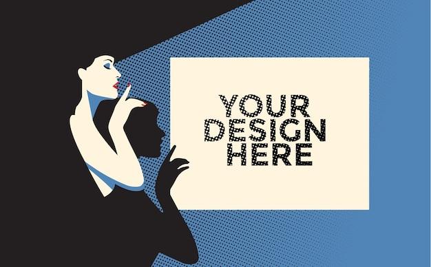 Poster mockup-dame