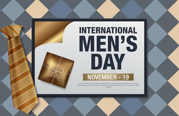 Poster oder banner für den internationalen tag des mannes