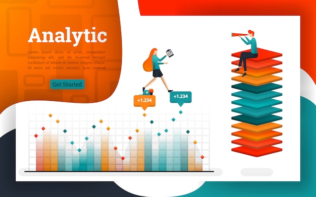 Poster oder webseiten für analyse- und finanzzwecke