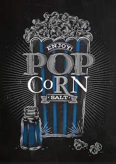 Poster popcorn salz schwarz