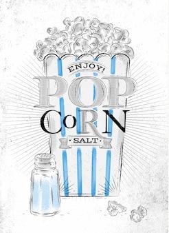 Poster popcorn salz