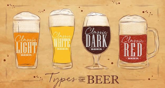 Poster-typen bier kraftpapier