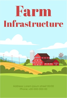 Poster-vorlage für die farminfrastruktur