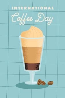 Poster zum internationalen kaffeetag