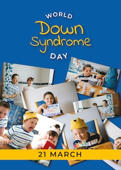 Poster zum welt-down-syndrom-tag