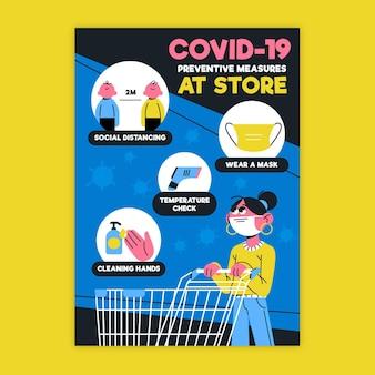 Poster zur coronavirus-prävention