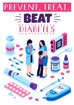 Poster zur diabetes-präventionsbehandlung