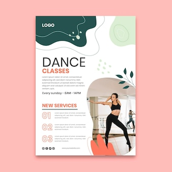 Postervorlage für tanzklassen