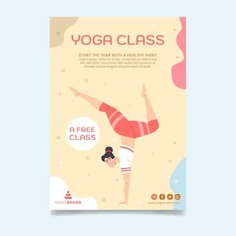 Postervorlage für yoga-kurse